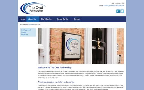 Screenshot of About Page theovalpartnership.co.uk - About Us | The Oval Partnership Limited - captured Sept. 30, 2014