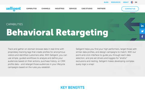 Behavioral Retargeting | Selligent