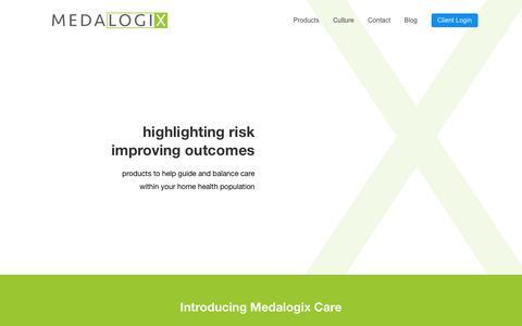 Medalogix - Home Health Analytics Predictive Modeling Technology