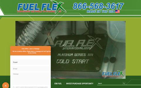 Screenshot of FAQ Page fuelflexinternational.com - E85 conversion kits - e85 kits - ALCOHOL FUEL CONVERSION KITS - FLEX FUEL CONVERSIONS - Fuel Flex International, Full Flex International - Full Flex Gold and ECO Flex Platinum USA Distributor flex fuel - Pulstar pulse Spark Plugs - FLEX COMBUSTIBLE - captured Sept. 1, 2018