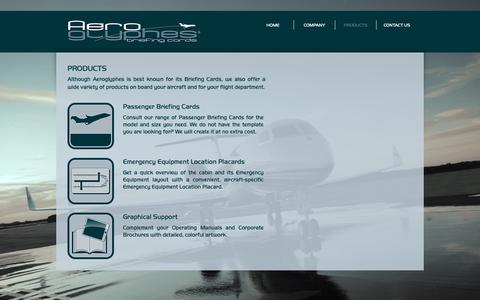 Screenshot of Products Page aeroglyphes.com - Aeroglyphes  | PRODUCTS - captured Oct. 3, 2018