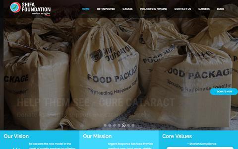 Screenshot of Home Page shifafoundation.org - Home - Shifa Foundation - captured Dec. 8, 2018