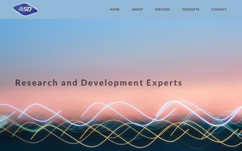 Screenshot of Home Page asd-tech.com - Home   A.S.D - Alexander Schwartz Developments - captured Dec. 17, 2018