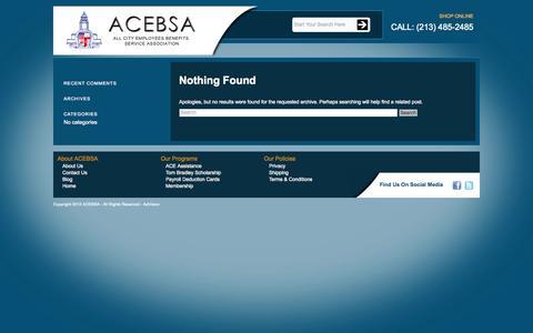 Screenshot of Blog acebsa.org - ACEBSA Blog | Just another WordPress site - captured Sept. 30, 2014