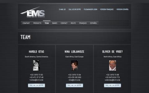 Screenshot of Team Page e-m-s.be - E-M-S  » Team - captured Oct. 17, 2016