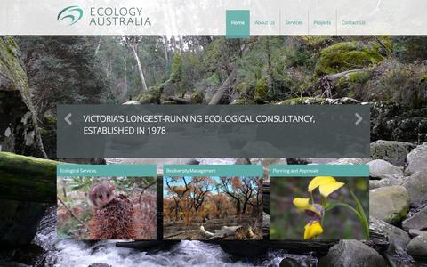 Screenshot of Home Page ecologyaustralia.com.au - Ecology Australia   EA - captured Oct. 1, 2014