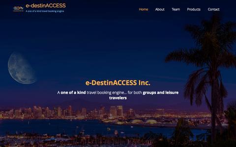 Screenshot of Home Page e-destinaccess.com - e-destinACCESS | A one of a kind travel booking engine - captured Sept. 17, 2015