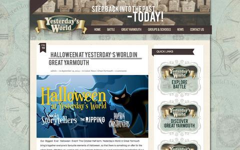 Screenshot of Press Page yesterdaysworld.co.uk - Yesterday's World | News & Events - Yesterday's World - captured Oct. 7, 2014