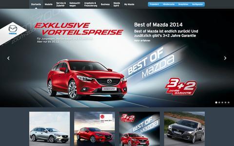 Screenshot of Press Page mazda.at - News - captured Oct. 27, 2014