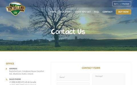 Screenshot of Contact Page buyireland.com - Contact our Specialist Online Gift Advisors   Buy Ireland - captured Nov. 23, 2016