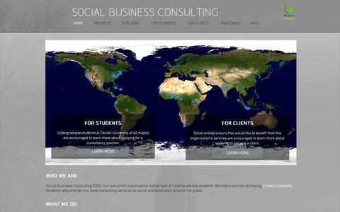 Screenshot of Home Page socialbusinessconsulting.org - Social Business Consulting - captured Feb. 15, 2016
