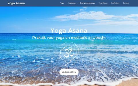 Screenshot of Home Page yoga-asana.nl - Yoga Asana - Praktijk voor yoga en meditatie in Utrecht - captured Aug. 17, 2016