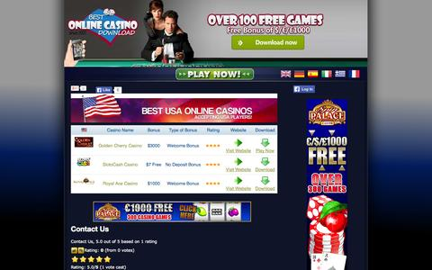 Screenshot of Contact Page bestonlinecasinodownload.com - Contact Us - Contact Spin Palace Casino - captured Oct. 7, 2014