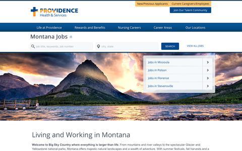 Screenshot of Home Page providence-montana.jobs - Providence Montana Jobs - captured Feb. 2, 2018