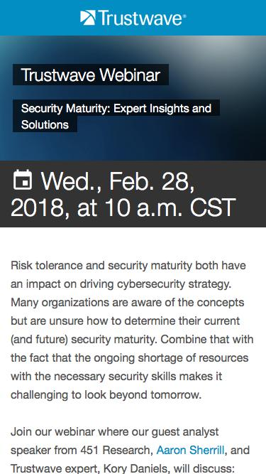 Webinar: Security Maturity: Expert Insights and Solutions