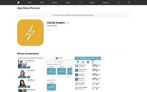Xactly Inspire on the AppStore