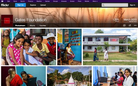 Screenshot of Flickr Page flickr.com - Flickr: Gates Foundation's Photostream - captured Oct. 23, 2014