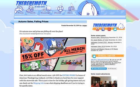 Screenshot of Blog thebehemoth.com captured Dec. 5, 2016