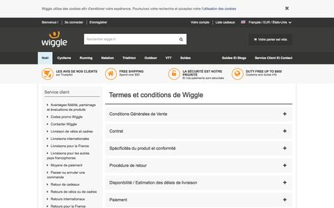 Screenshot of Terms Page wiggle.fr - Wiggle Service client - captured Dec. 4, 2016