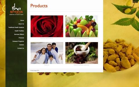 Screenshot of Products Page ishaarogya.org - Products - Isha Arogya - captured Oct. 6, 2014