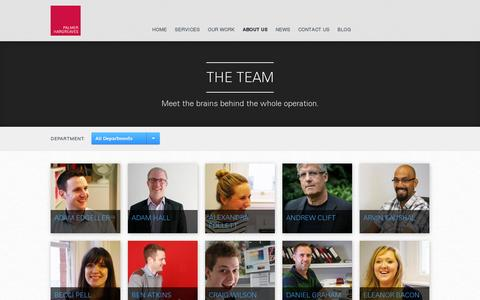 Screenshot of Team Page palmerhargreaves.com - The Team – Palmer Hargreaves - captured July 19, 2014