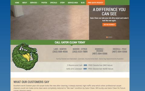 Screenshot of Blog gatorclean.net - Blog | Gator Clean | Lake, Marion, Sumter, Osceola, Orange, Seminole Counties, FL - captured Oct. 28, 2014