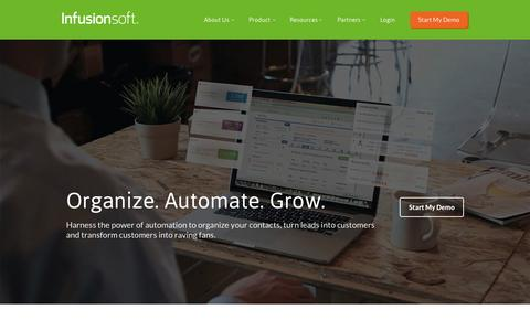 Screenshot of Home Page infusionsoft.com - Small Business CRM   Marketing Software Small Business   Infusionsoft - captured May 6, 2015