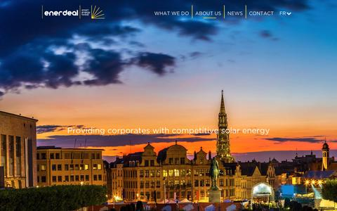 Screenshot of About Page enerdeal.com - Enerdeal   –  ABOUT US - captured Dec. 10, 2015