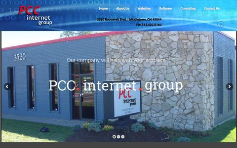 Screenshot of Home Page pccig.com - PCCIG : - captured March 4, 2016