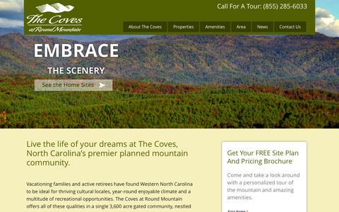 Screenshot of Home Page thecovesnc.com - Home - The Coves of North CarolinaThe Coves of North Carolina - captured Oct. 7, 2014