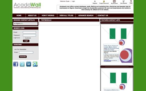 Screenshot of Testimonials Page acadawall.com - Acadawall | Global Higher Education Reference | Testimonials - captured Nov. 20, 2016