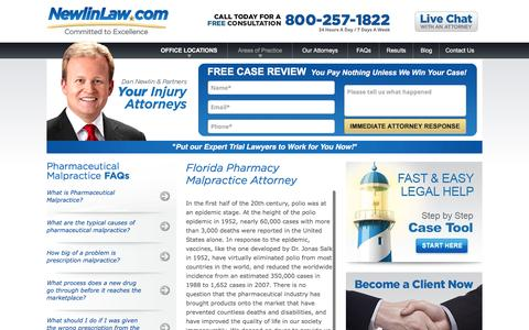 Florida Pharmacy Attorney - Dan Newlin - Recovered Millions
