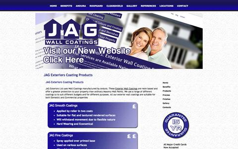 Screenshot of Products Page jagexteriorsltd.co.uk - Product Ranges for the Exterior and External Walls - captured Sept. 30, 2014