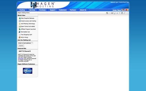 Screenshot of Home Page heroprod.com - Web hosting: Hagen Hosting for your web hosting needs - captured Sept. 28, 2018