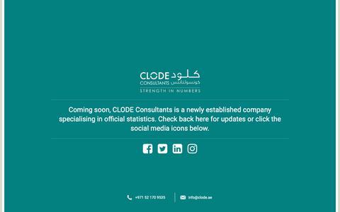 Screenshot of Home Page clodey.com - MyWebsite - captured Nov. 16, 2018