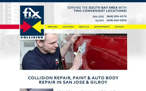 Screenshot of Contact Page Locations Page springercollision.com - Auto Body & Collision Repair San Jose & Gilroy CA - Fix Auto - captured Oct. 6, 2014