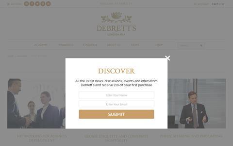 Screenshot of Case Studies Page debretts.com - Case Studies - Debrett's - captured Oct. 30, 2017