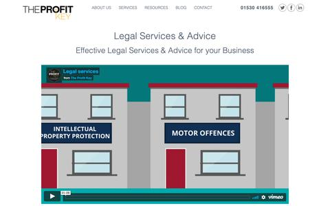Screenshot of Terms Page theprofitkey.co.uk - Legal Services & Legal Advice | The Profit Key - captured Oct. 20, 2018