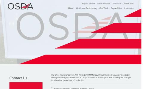 Screenshot of Contact Page osda.com - Contact Us – OSDA - captured Dec. 17, 2016