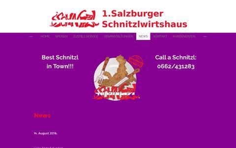 Screenshot of Press Page weebly.com - Best Schnitzl in Town - Call a Schnitzl! - 1. Salzburger Schnitzlwirtshaus - captured Sept. 21, 2016