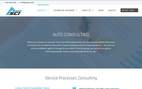 Screenshot of Services Page sciusa.com - Auto Consulting - Summit Consulting Inc. - captured July 7, 2017