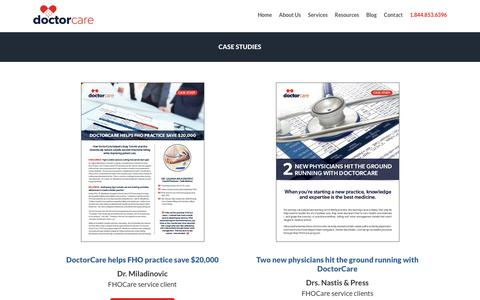 Screenshot of Case Studies Page doctorcare.ca - Case Studies | DoctorCare - captured Aug. 7, 2018