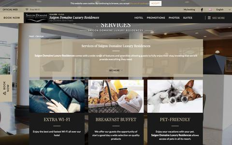 Screenshot of Services Page saigondomaine.com - Services of Saigon Domaine Luxury Residences  in Hồ Chí Minh. Official Website. - captured Oct. 1, 2018