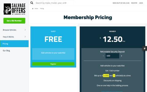 Screenshot of Pricing Page thecustomconcierge.com - Membership Pricing - captured Jan. 11, 2016