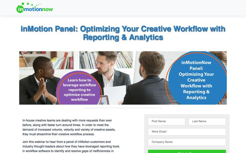 inMotionNow | inMotion Panel: Optimizing Your Creative Workflow with Reporting & Analytics