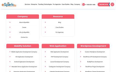 Screenshot of Site Map Page esparkinfo.com - Here's your One-Stop Solution for the Web & Mobile | eSparkBiz - captured Nov. 25, 2019