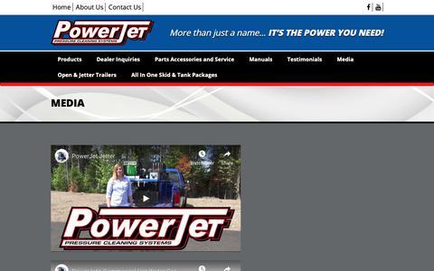 Screenshot of Press Page powerjetpressure.com - Media - Powerjet Pressure Cleaning Systems - captured Nov. 20, 2018