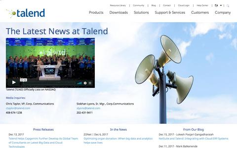 Talend News: Latest News About Talend & Integration Software