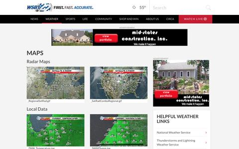 Screenshot of Maps & Directions Page wsbt.com - South Bend Maps | News, Weather, Sports, Breaking News | WSBT - captured Nov. 18, 2016