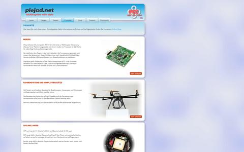 Screenshot of Products Page plejad.net - Plejad Copter - Produkte - captured Nov. 15, 2016